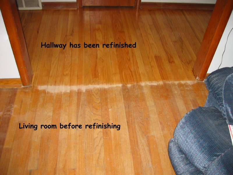 Refinish hardwood floors refinish hardwood floors before for Before and after flooring
