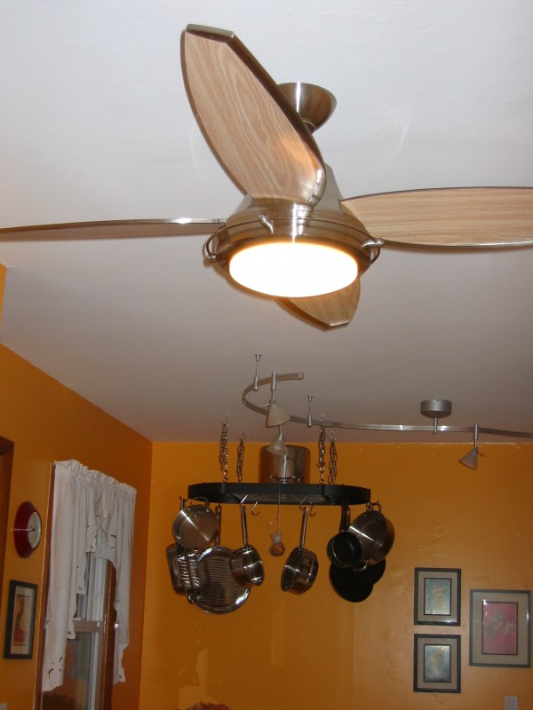 the kitchen ceiling fan